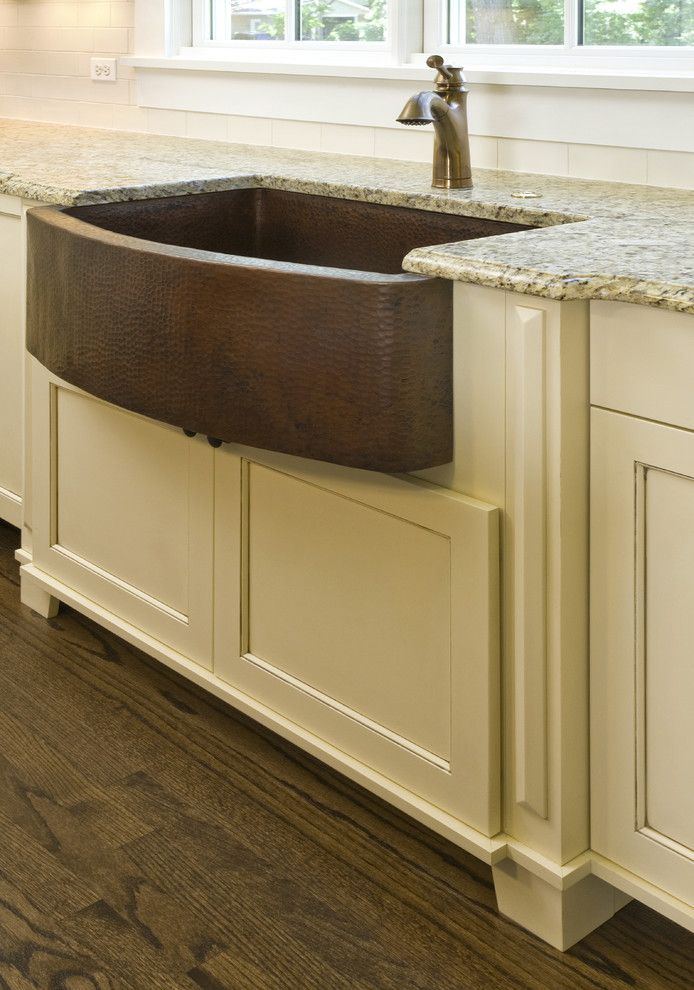 Ferguson Plumbing Supplies for a Craftsman Spaces with a Farm Sink and Hammered Copper Farm Sink by Great Rooms Designers & Builders