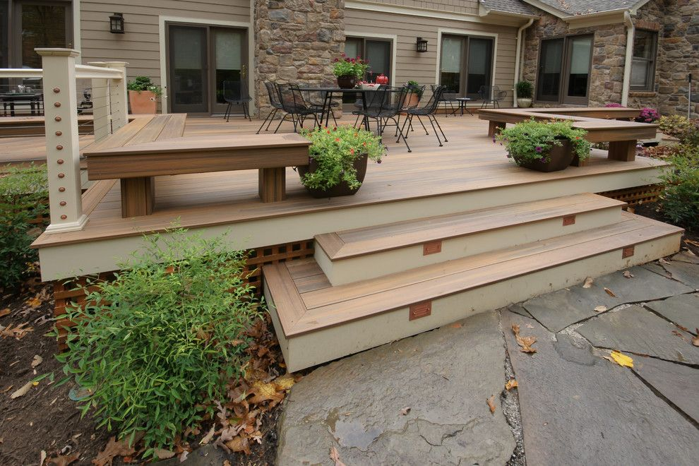 Fiberon for a Traditional Deck with a Outdoor Grill and Baltimore Fiberon Deck by Fine Decks Inc