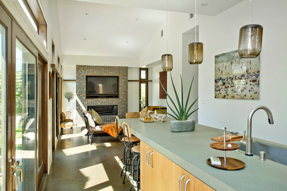 Fiesta Factory Direct for a Beach Style Kitchen with a Green Counters and Modern Kitchen  Venice by the Kitchen Factory