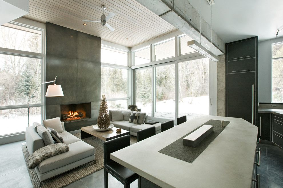 Fine Homebuilding for a Modern Living Room with a Modern and Capitol Creek by Kaegebein Fine Homebuilding