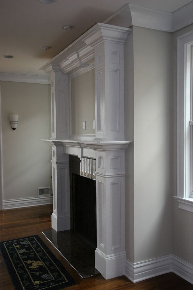 Fireplace Mantel Decorating Ideas for a Traditional Living Room with a We Specialize in Moldings Installation and Custom Fireplace Mantles, Build Ins by Trim Team Nj