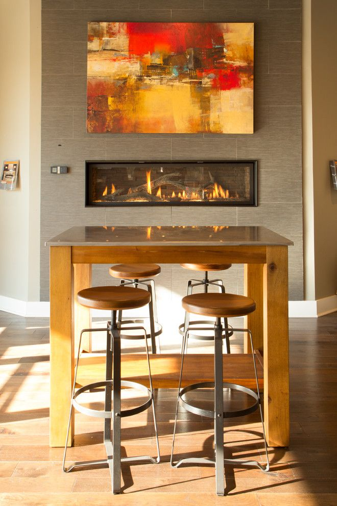 Fireplace Xtrordinair for a Modern Living Room with a Fireplace and Modern Linear Gas Fireplace W/ Driftwood Logs & Fire Glass by the Fireplace Place   North Atlanta