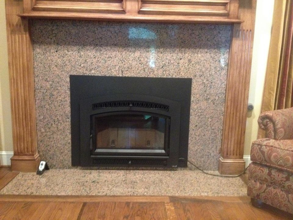 Fireplace Xtrordinair for a Transitional Family Room with a Wood Insert and Fireplace Xtrordinair Flush Wood Hybrid-Fyre Wood Insert by North Texas Chimney & Hearth