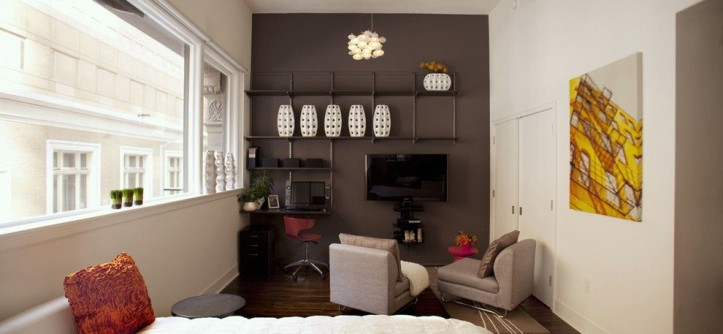 First Apartment Checklist for a Modern Bedroom with a Wall Art and San Francisco Urban Studio by Susan Diana Harris Interior Design