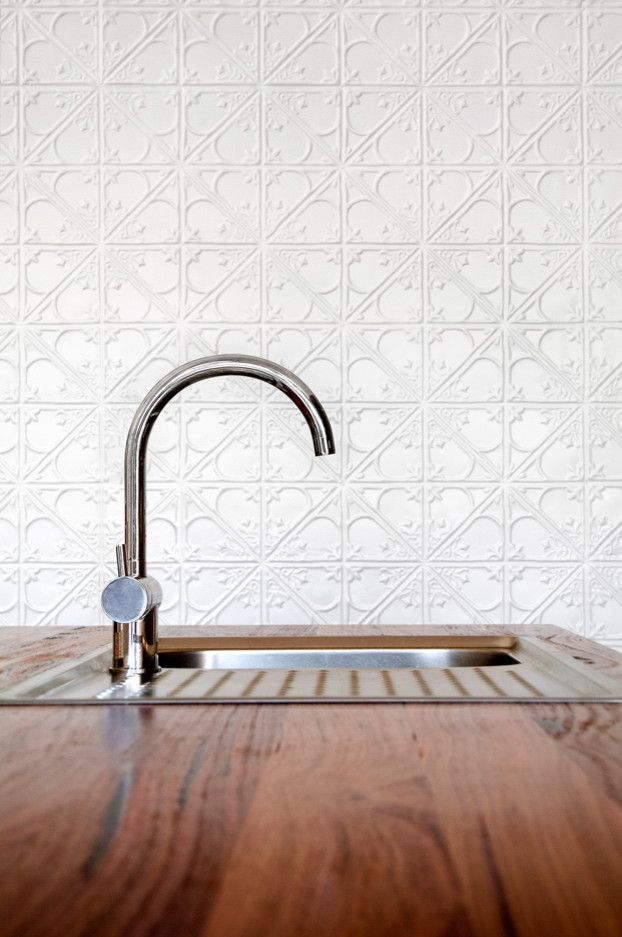 Fitzpatrick Furniture for a Contemporary Kitchen with a Gooseneck Tap and Barwon Heads Beach House Kitchen Detail by Auhaus Architecture