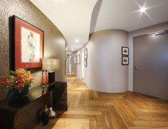 Fitzpatrick Furniture for a Modern Hall with a Foyer and Yve by Melbourne Contemporary Kitchens