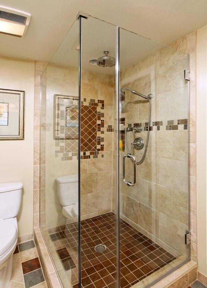 Fleurco for a Eclectic Bathroom with a Earth Tone Colors and Case Design/remodeling, Inc. by Case Design/remodeling, Inc.