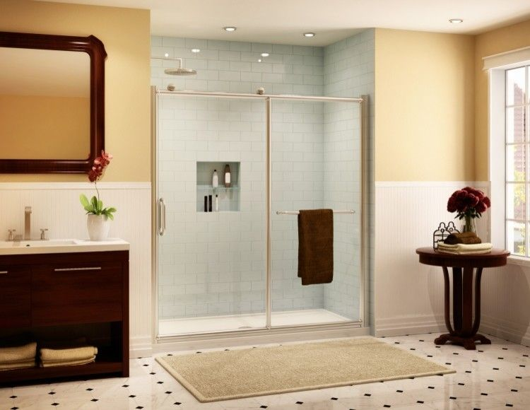 Fleurco for a Traditional Bathroom with a Traditional and Fleurco Roma Shower Doors by Bathroom Trends