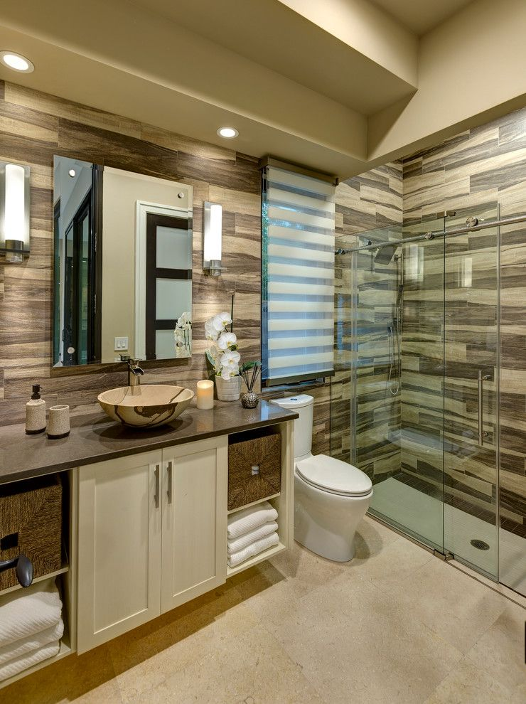 Fleurco for a Transitional Bathroom with a Storage Baskets and New Southern Home by Bill Cook Luxury Homes