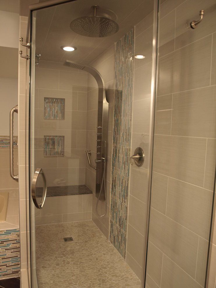 Floor and Decor Lombard for a Contemporary Bathroom with a Shower and Bloomingdale, Il Bath by Jgn Builders, Inc.