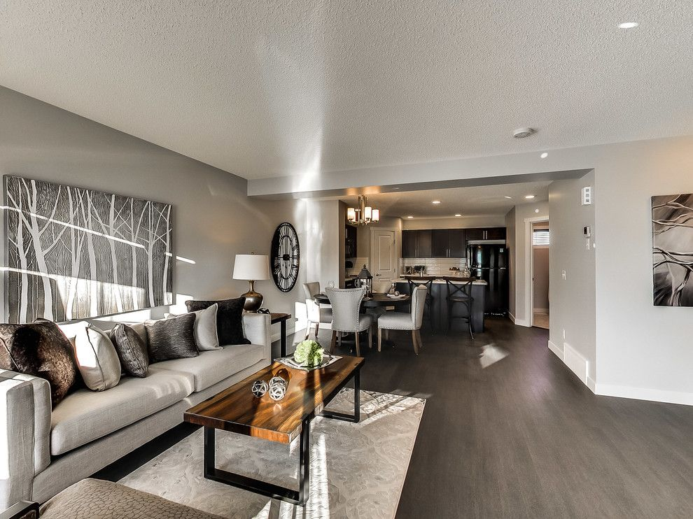 Floor and Decor Lombard for a Transitional Living Room with a Dark Wood and Altius Cy Becker Lombard by Streetside Developments Edmonton