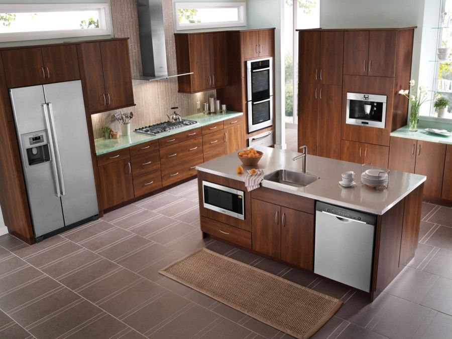 Florida Builder Appliances for a Transitional Kitchen with a Coffeemaker and Bosch Lookbook by Florida Builder Appliances