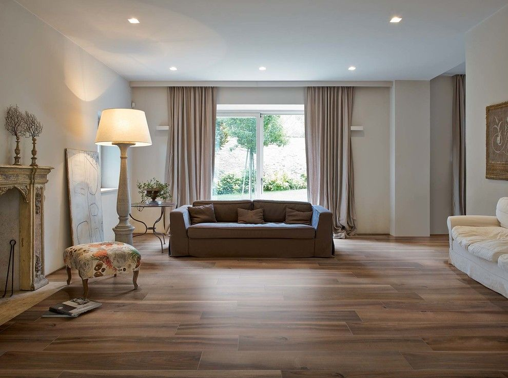 Florim Usa for a Rustic Living Room with a Rustic Style and Trend: Wood Look Ceramic Tile by Arley Wholesale   South Montgomery