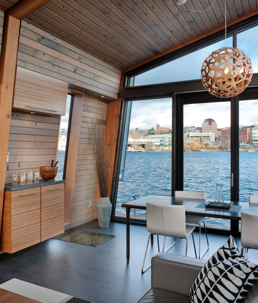 Forbo for a Contemporary Dining Room with a Dining Are and Dyna   Portage Bay by Dyna Contracting
