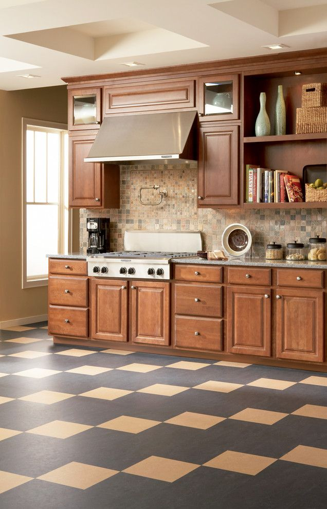 Kitchen With A Floating Floor And Forbo