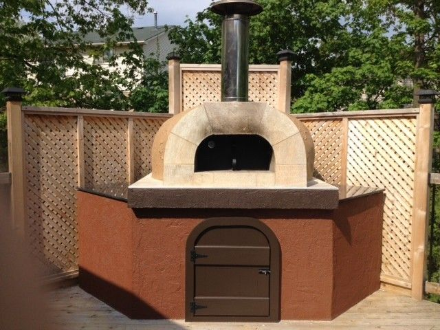 Forno Bravo for a  Patio with a Wood Fire Oven and Forno Bravo Casa Wood Fire Oven Kit by Forno Bravo