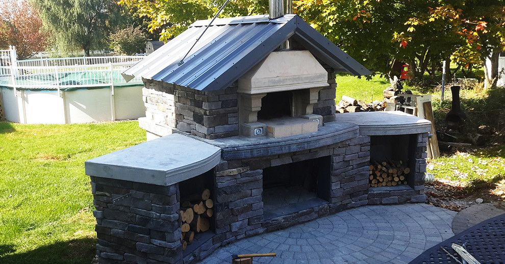 Forno Bravo for a  Spaces with a Pizza Oven Outdoors and Forno Bravo Casa Wood Fire Oven Kit by Forno Bravo