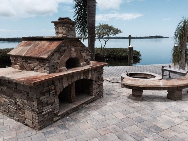 Forno Bravo for a  Spaces with a Wood and Forno Bravo Casa Wood Fire Oven Kit by Forno Bravo