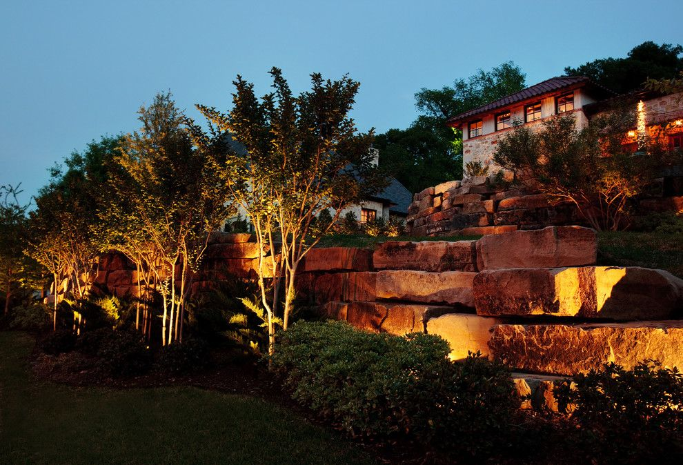Fort Worth Lighting For A Mediterranean Landscape With A Mediterranean And Fort  Worth Landscape Lighting Project