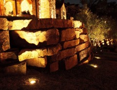 Fort Worth Lighting for a Mediterranean Landscape with a Mediterranean and Fort Worth Landscape Lighting Project Hilltop by Passion Lighting