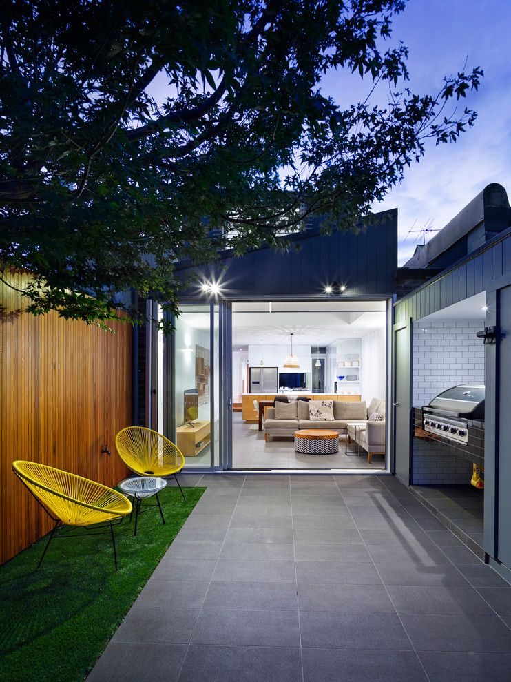 Fortunoff Backyard Store for a Contemporary Patio with a Architecture and Urban House by Elaine Richardson Architect