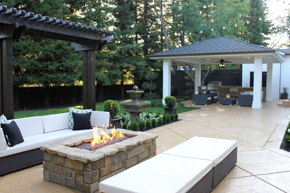 Fortunoff Backyard Store for a Traditional Patio with a Bead Board and Cabana's and Castia's by Fautt Homes