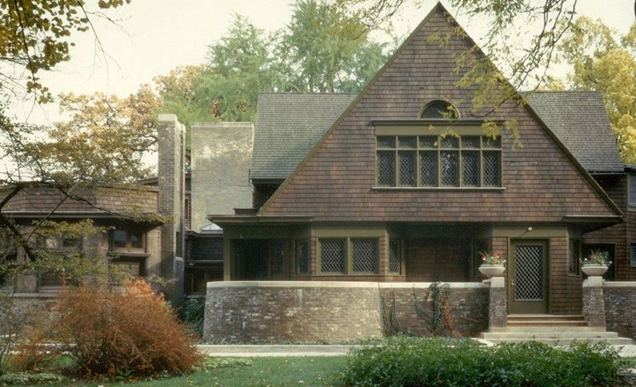 Frank Betz House Plans for a Victorian Exterior with a Frank Lloyd Wright and Wright Home and Studio by Frank Lloyd Wright Trust