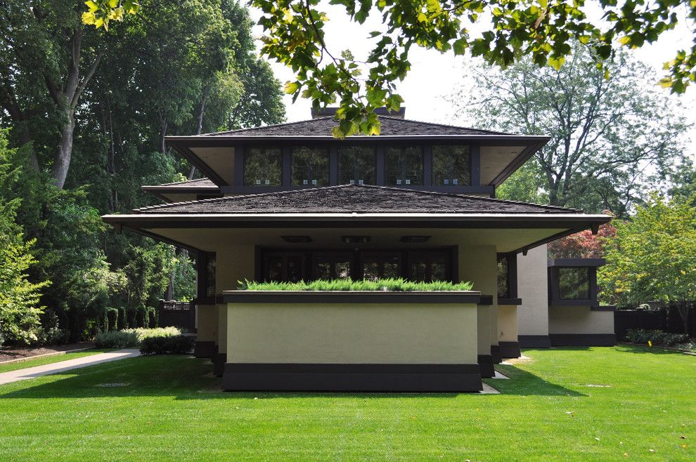 Frank Lloyd Wright Falling Water for a Craftsman Exterior with a Frank Lloyd Wright House and Frank Lloyd Wright Designed House by Bayer Landscape Architecture, Pllc