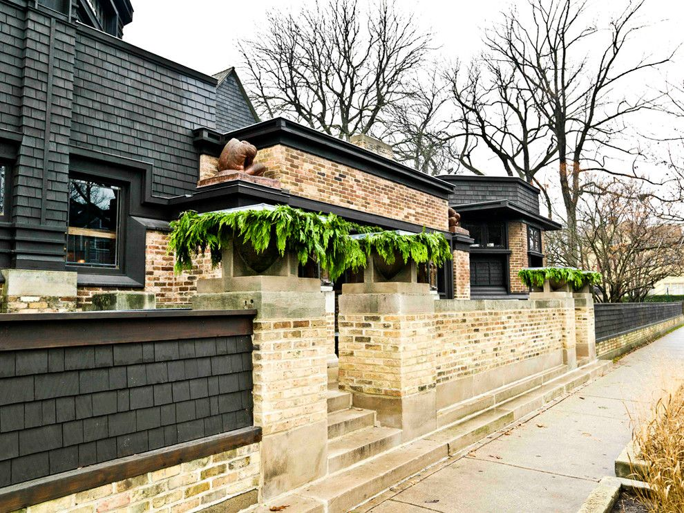 Frank Lloyd Wright Falling Water for a Traditional Exterior with a Christmas and Frank Lloyd Wright Home & Studio by Cynthia Lynn Photography