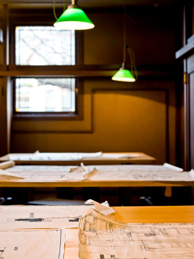 Frank Lloyd Wright Home and Studio for a Traditional Home Office with a Oak Park and Frank Lloyd Wright Home & Studio by Cynthia Lynn Photography