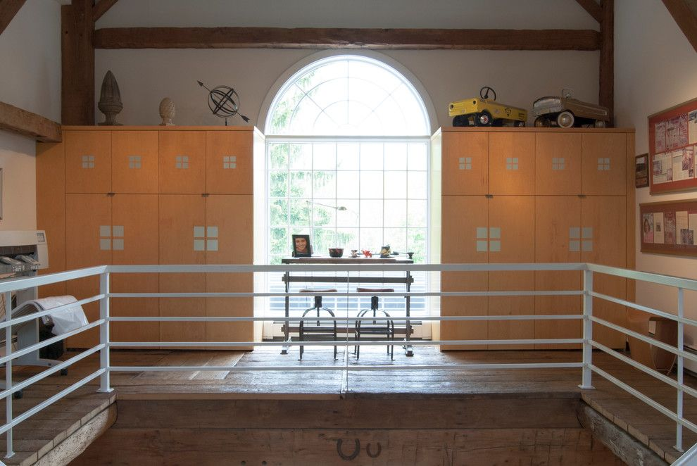 Franklin Building Supply for a Farmhouse Home Office with a Barn Conversion and My Houzz: Tim: Akron, Ohio by Adrienne Derosa