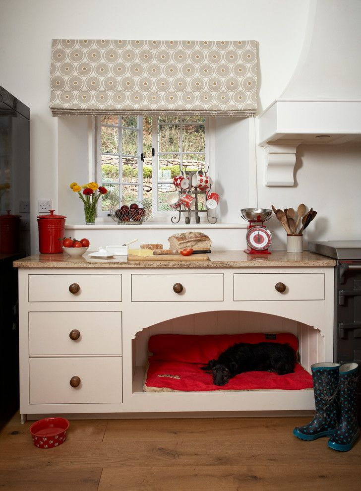 Franklin Building Supply for a  Kitchen with a Dog Bed and Classic Farmhouse with a Twist by Barnes of Ashburton Ltd