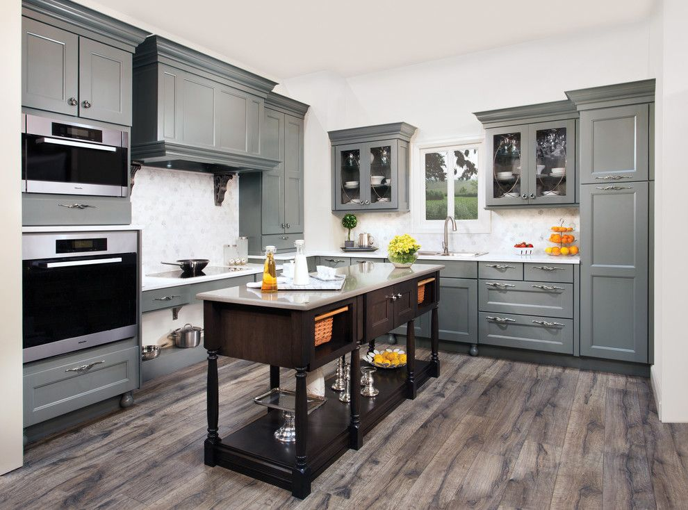 Freds Appliance for a Contemporary Kitchen with a Grey and Wellborn Cabinet by Wellborn Cabinet, Inc.