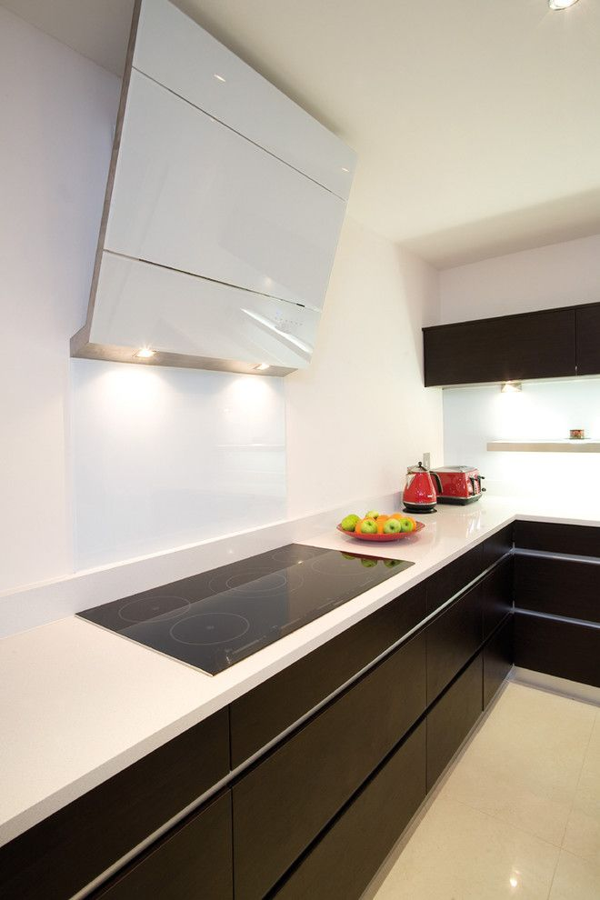 Freds Appliance for a Contemporary Kitchen with a Red Toaster and Wenge and White by Glenvale Kitchens