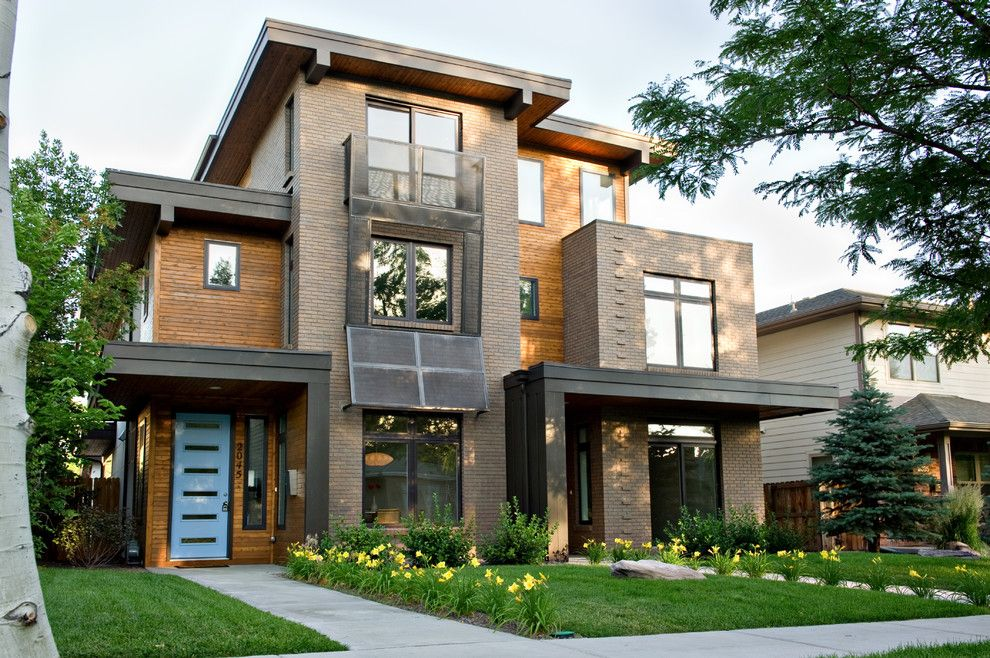 Front Porch Denver for a Contemporary Exterior with a Picture Windows and Pearl Street Duplex Residence by Bcdc (B. Costello Design & Consulting, Llc)