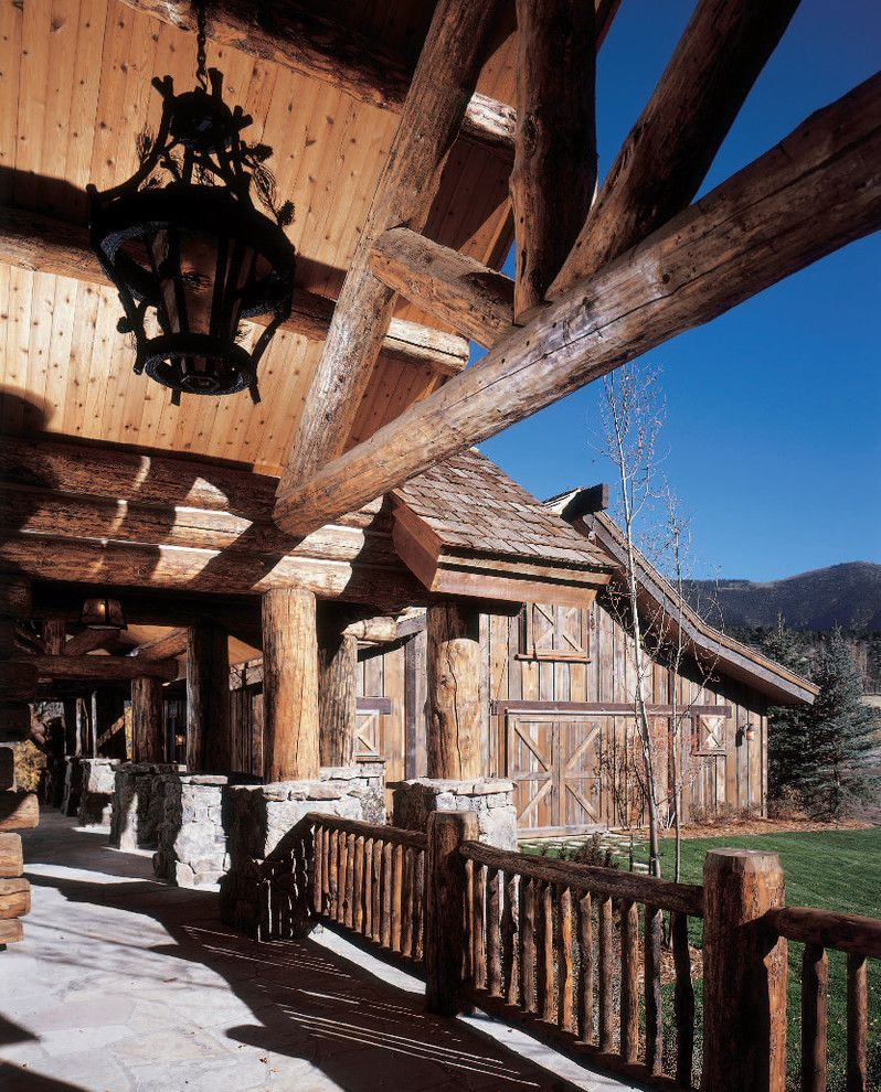Front Porch Denver for a Rustic Exterior with a Rustic and River Cabin by Rmt Architects