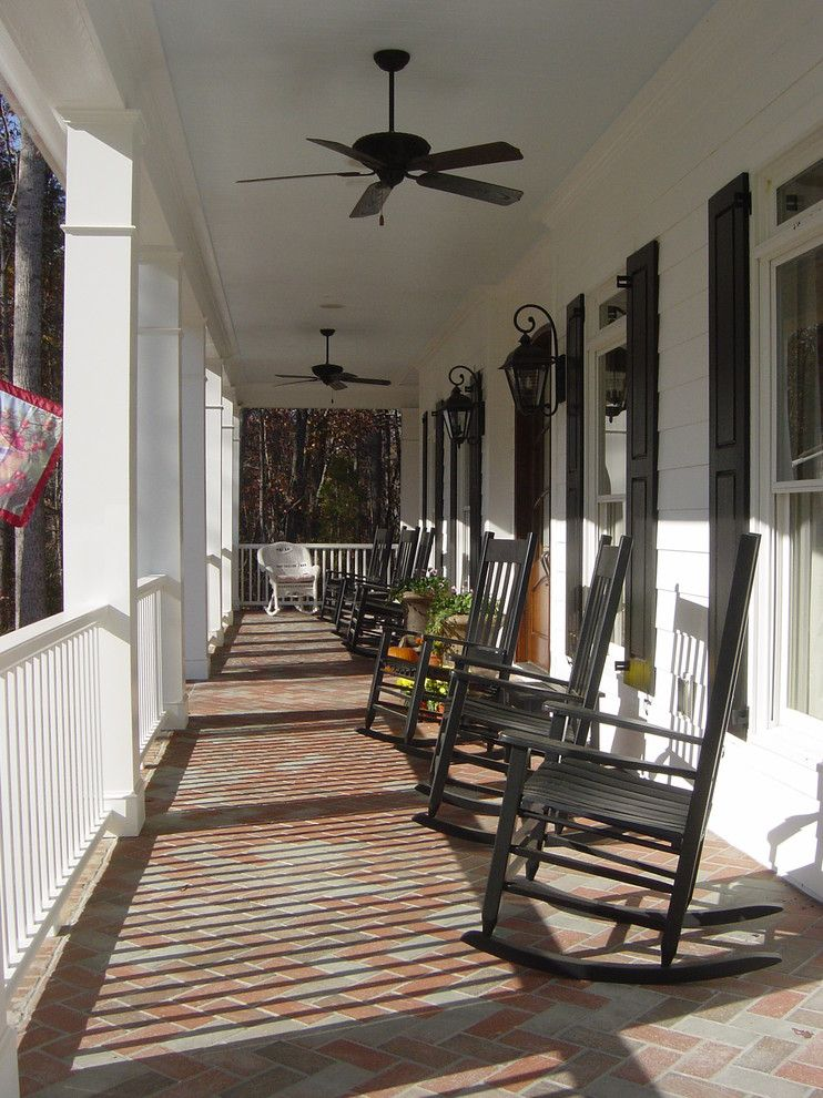 Front Porch Designs for a Traditional Porch with a Window Shutters and Front Porches by John Marshall Custom Homes