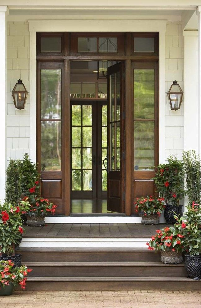 Front Stoop for a Traditional Entry with a Transom and Palmetto Bluff   Private Residence by Linda Mcdougald Design | Postcard From Paris Home