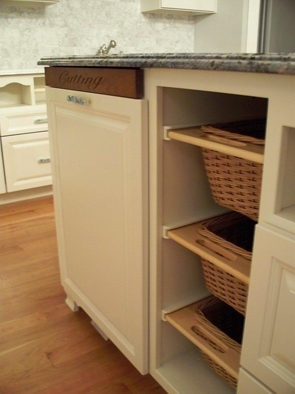 Fruit Basket Flowerland for a Traditional Kitchen with a Blue Granite and Kitchen Built in Cutting Board and Baskets by Beaglesdoitbetter