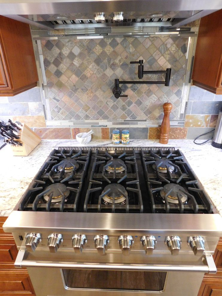 Fuda Tile for a Rustic Spaces with a Multicolor Backsplash and Solomon Project by Arley Wholesale   Albany Tile, Carpet & Rug