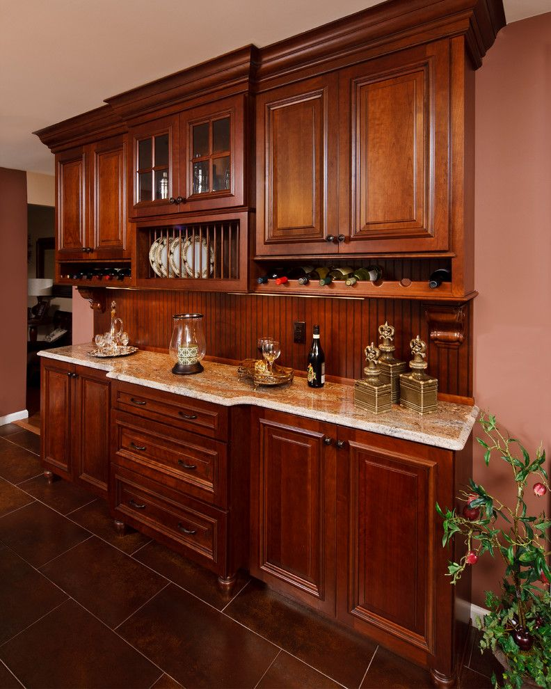 Fuda Tile for a Traditional Kitchen with a Traditional and Elegant Kitchen Renovation by Creative Design Construction, Inc.