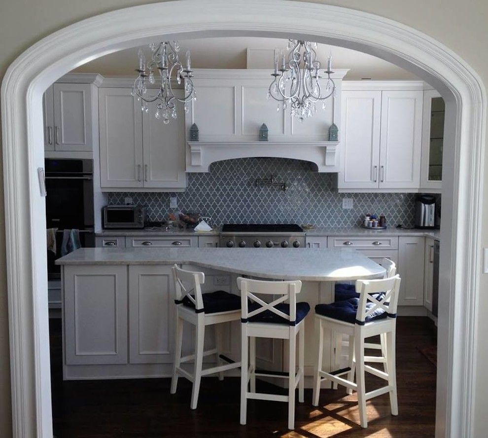 Fuda Tile for a Transitional Kitchen with a Transitional and Gallery by Wholesale Kitchen Center, Inc