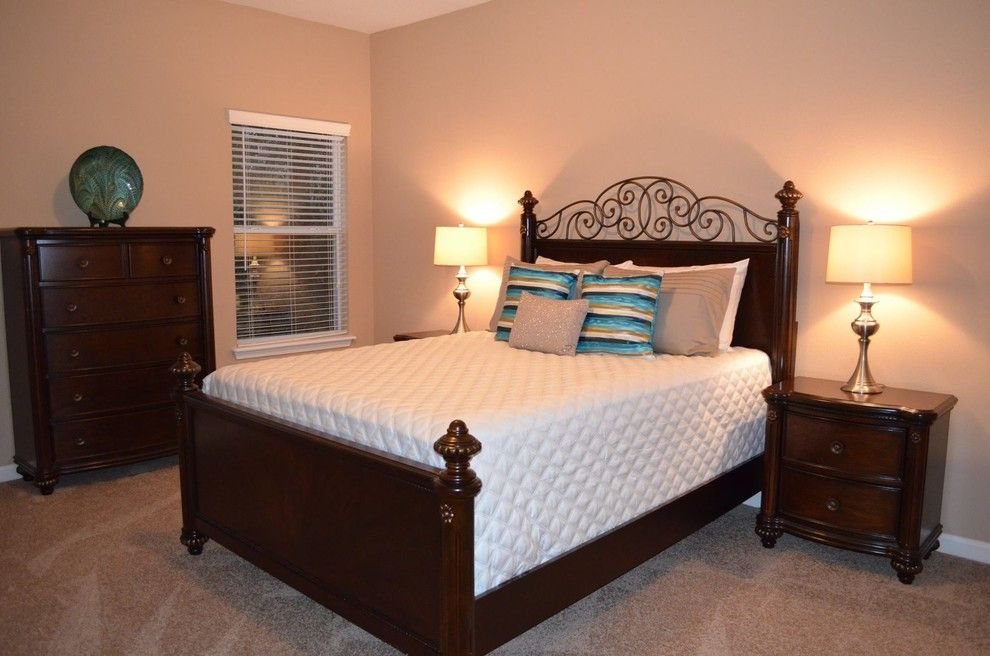 Furniture Mart Jacksonville Fl for a Transitional Bedroom with a Table Lamps and Staging Southern Lifestyle Homes  Jacksonville, Fl by Donna Mancini