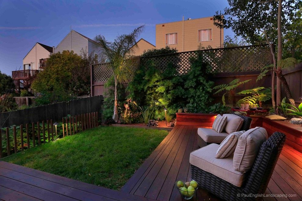Fx Luminaire for a Contemporary Deck with a Ipe and Potrero Hill Backyard by Paul English Landscaping