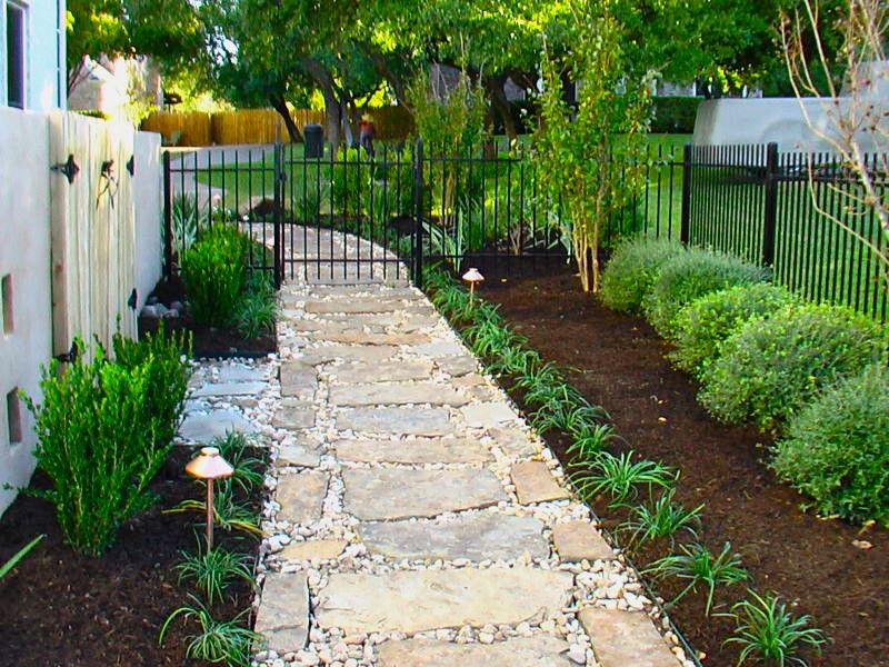 Fx Luminaire for a Traditional Landscape with a Path and Flagstone Pathway by Greenscapes Landscaping & Pools