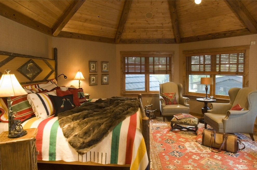 Gabberts Furniture for a Rustic Bedroom with a Interior and Bedroom by Gabberts Design Studio
