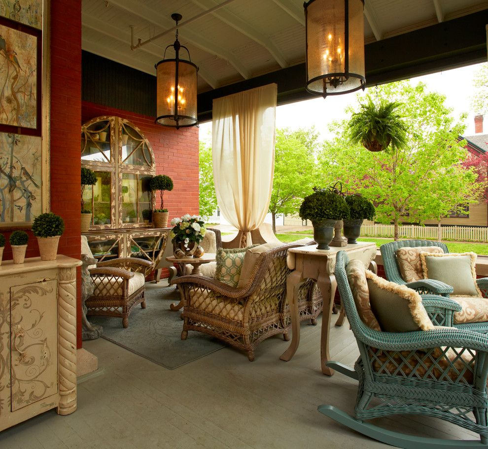 Gabberts Furniture for a Traditional Porch with a Cathedral Hill and Front Porch by Gabberts Design Studio