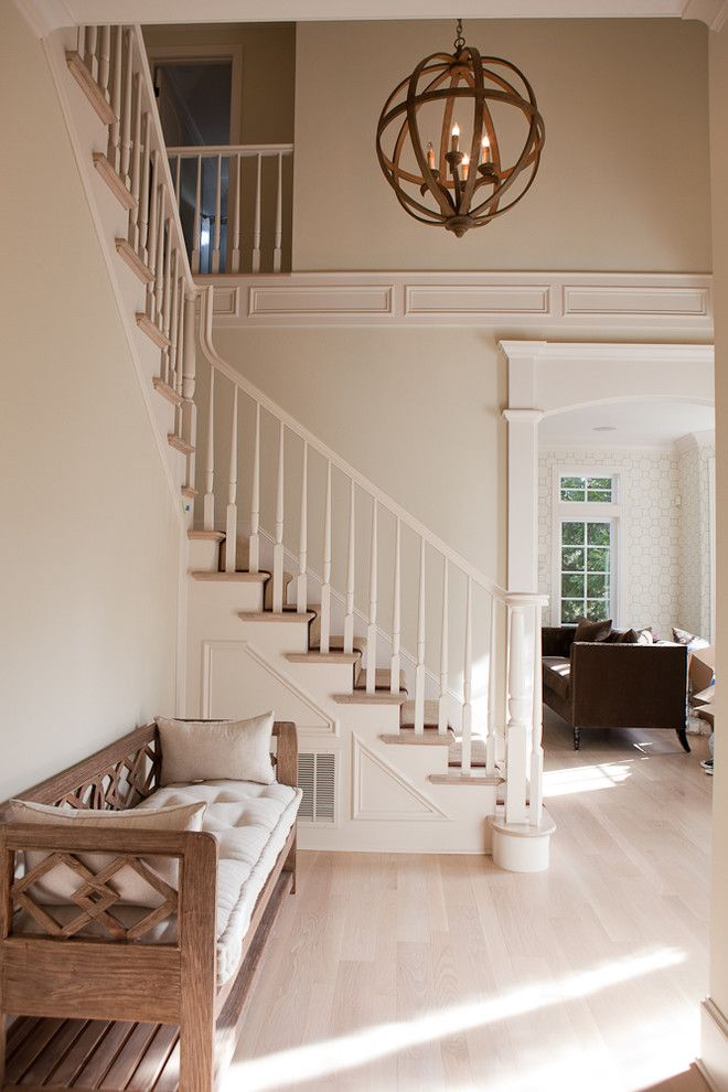 Gabby Furniture for a Traditional Entry with a Bench and Foyer by Jenny Baines, Jennifer Baines Interiors