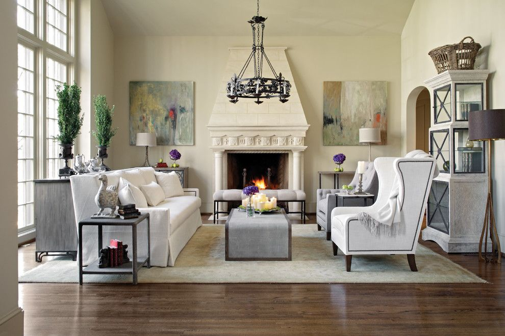 Gabby Furniture for a Traditional Living Room with a White Couch and Gabby Decor by Gabby