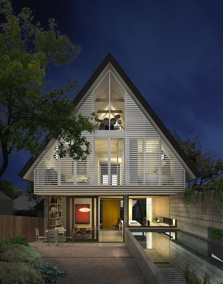 Gable Roof for a Contemporary Exterior with a Attic Room and 8th Street Residence by a Parallel Architecture